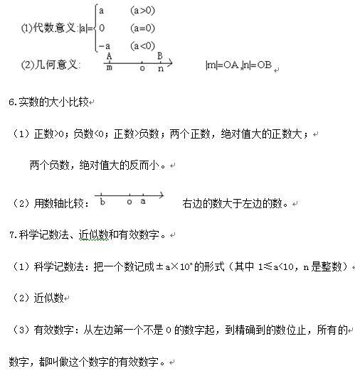 七年级下册数学 实数