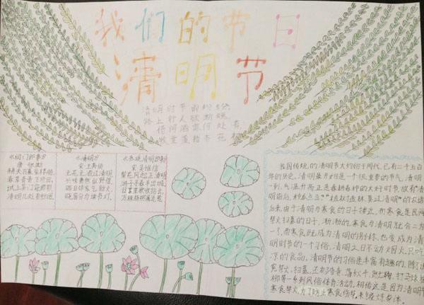 三年级清明节手抄报图片_深圳智康1对1