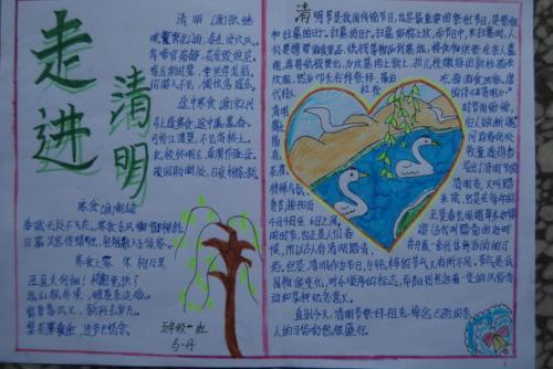 四年级清明节手抄报图片_深圳智康1对1