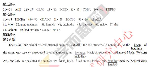 深圳2018高考一模英语试卷及答案