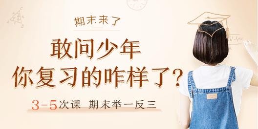 深圳学而思1对1期末复习课