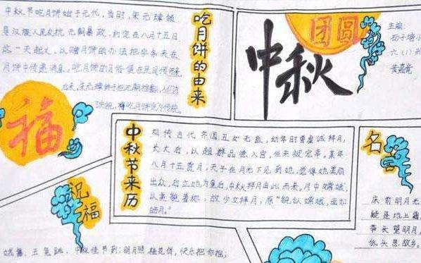 2018年初三中秋节手抄报图片