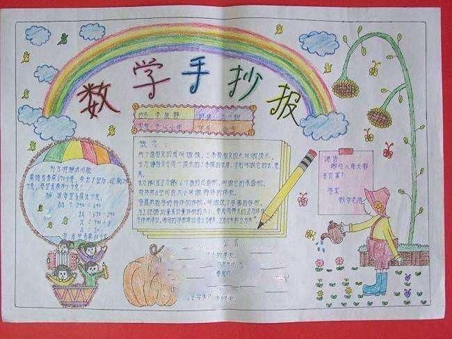 六年级上册数学手抄报(2)图片