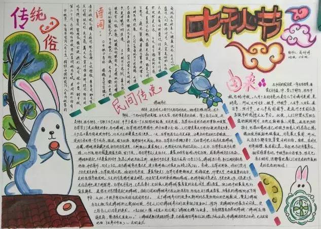 中秋节手抄报图片大全简单又漂亮四年级