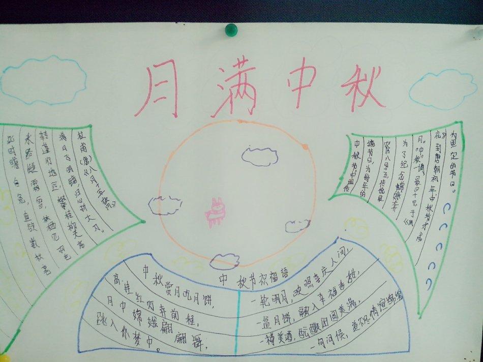 2018二年级关于中秋节的手抄报