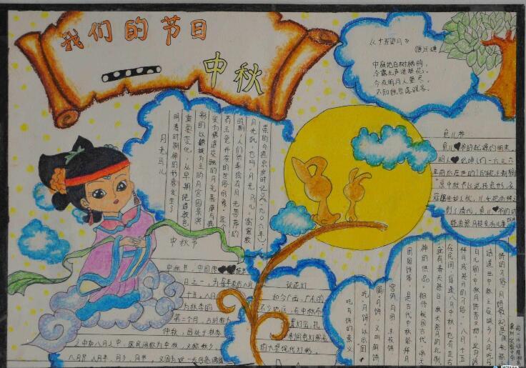 八年级关于中秋节的手抄报