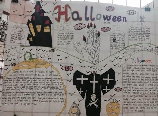 2018年小学生万圣节英语手抄报5张(2)