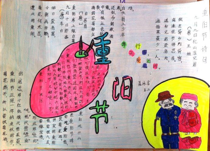 小学生重阳节手抄报10张