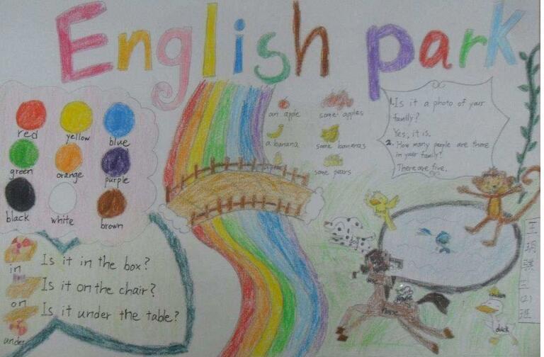 三年级英语手抄报