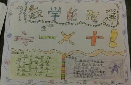 四年级数学上册手抄报图片