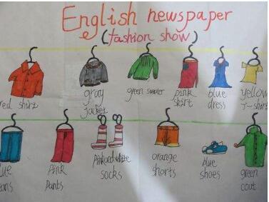 四年级英语下册手抄报图片