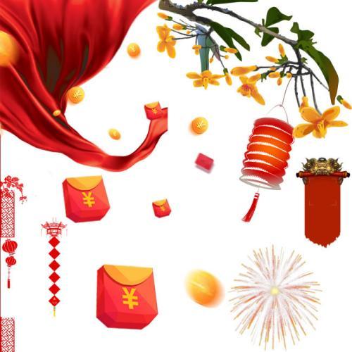 2019年热闹的春节高中600字5篇线作文角面图片