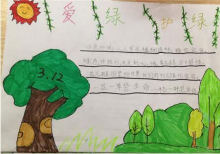 2019年三年级关于植树节的手抄报