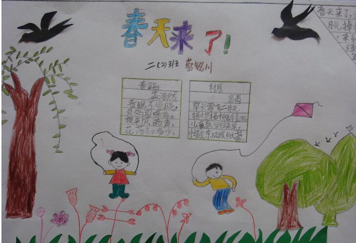 北京小学关于春天的手抄报图片
