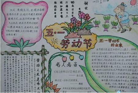 北京小学三年级五一劳动节手抄报