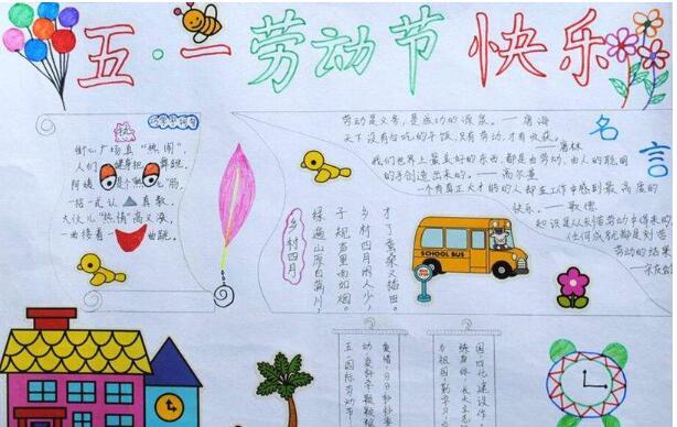 汇总丨2019劳动节小学三年级手抄报内容图片