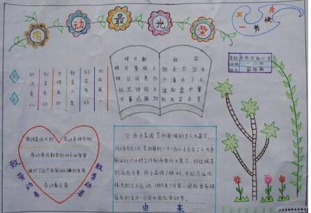 汇总丨2019劳动节初中七年级手抄报内容图片