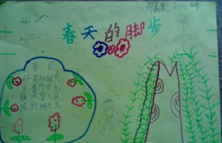 北京小学三年级关于春天手抄报图片