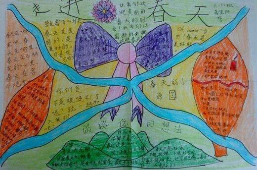 北京小学五年级关于春天手抄报