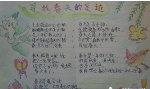 北京小学六年级关于春天手抄报图片