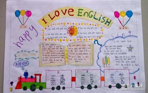 四年级英语手抄报