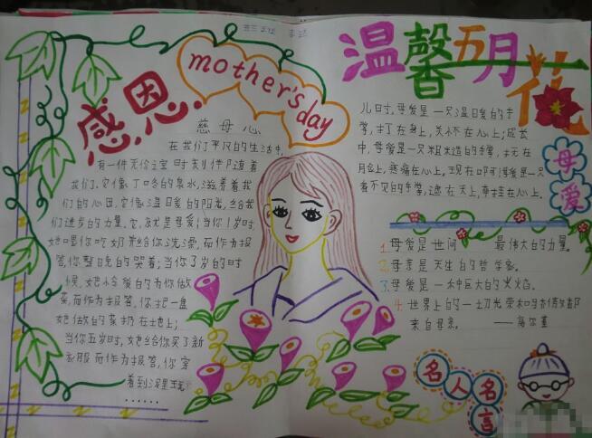 北京小学六年级关于花草的手抄报