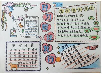 北京小学有关生活的手抄报图片