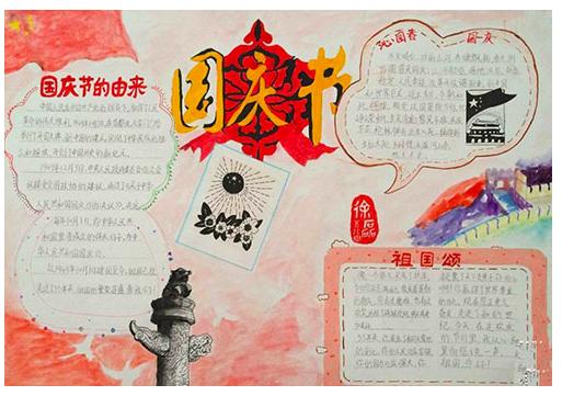 北京小学关于国庆节的手抄报图片