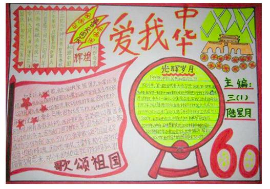 北京小学国庆节手抄报内容