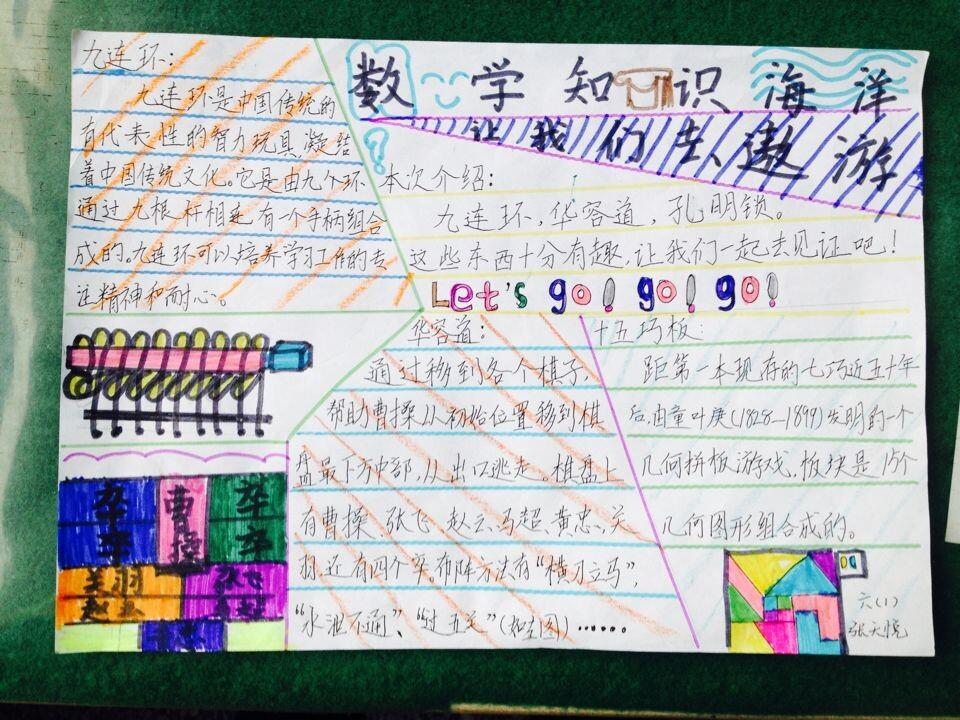 北京小学数学阅读手抄报图片