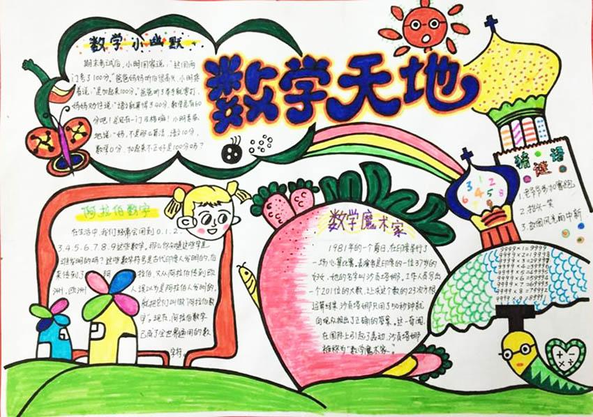 北京小学数学三年级手抄报