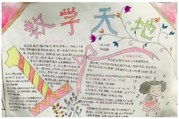 北京小学快乐数学手抄报内容