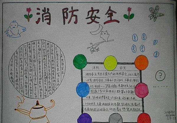 北京小学关于安全的手抄报