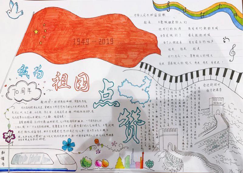 北京小学爱国手抄报内容