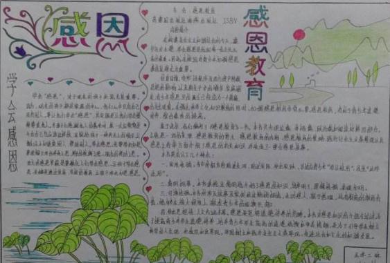 北京小学感恩教育手抄报