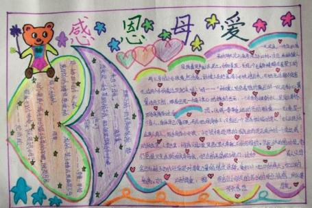 北京小学关于母亲节的手抄报图片