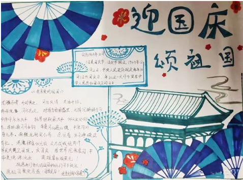 北京小学歌颂祖国手抄报图片