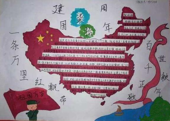 2019年国庆节手抄报图片大全3年级5张