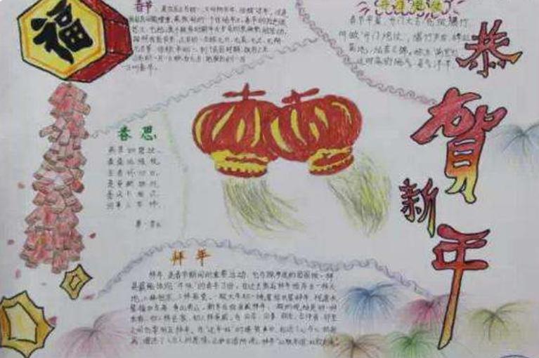 2020关于美丽新年的手抄报 初中二年级_武汉学而思爱