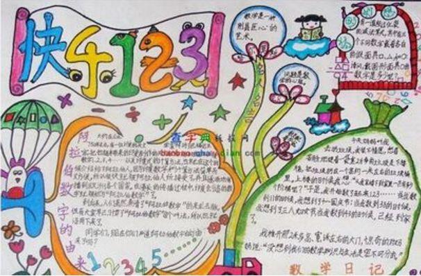 北京小学生活中的数学小报内容_手抄报_北京爱智康