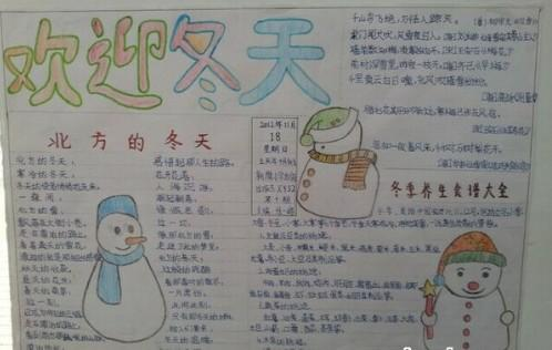 2019年立冬手抄报简单又好看3张