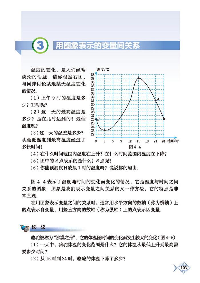 深圳七年级下册数学用图象表示的变量间关系
