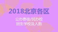 2018北京各区公办寄宿、民办校招生学校及人数