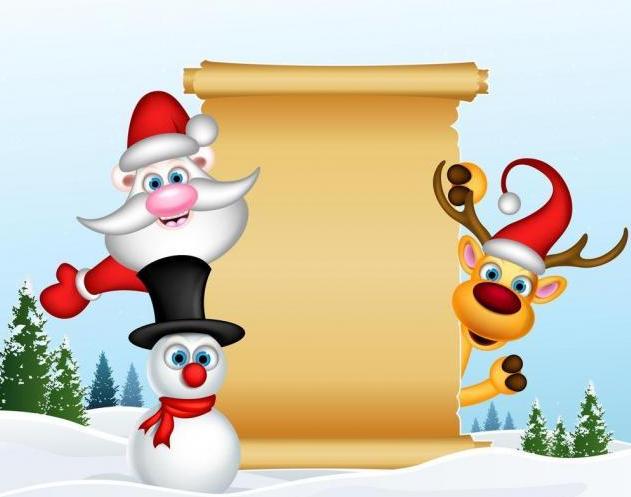 2018年初一圣诞节手抄报图片5张