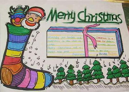 2018年六年级圣诞节手抄报图片5张