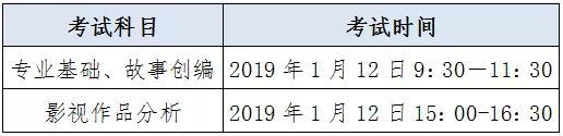 2019年广东省艺术类专业术科统一考试时间安排