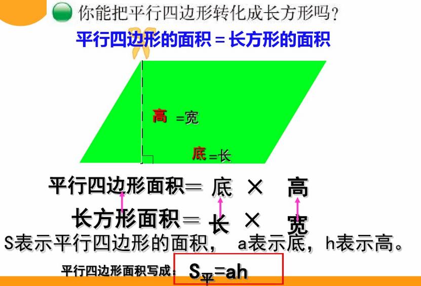 深圳五年级上册数学探索活动:平行四边形的面积