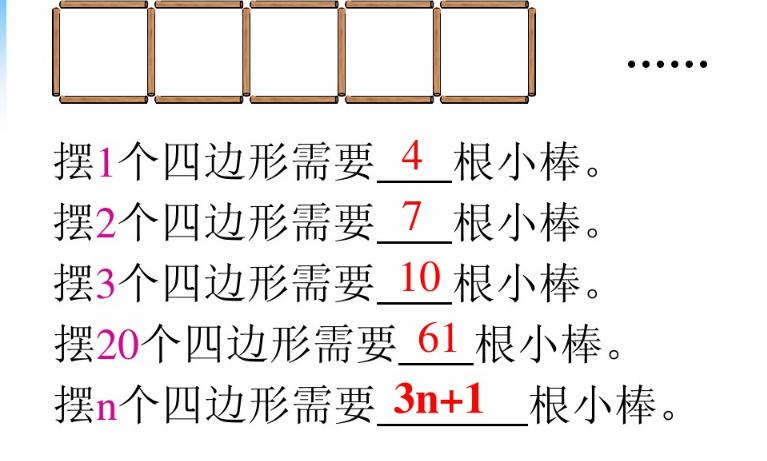 深圳五年级上册数学图形中的规律