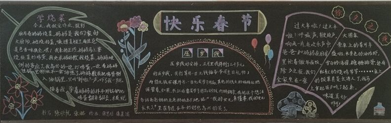 2019年高三快乐寒假黑板报3张