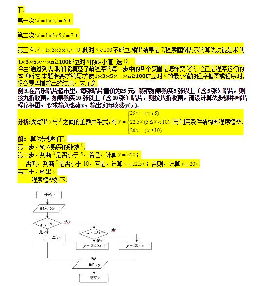 深圳高中数学必修三算法与程序框图教案